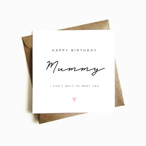 'Mother-to-be' Birthday Card
