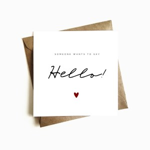 Personalised 'Someone wants to say Hello' Announcement Card