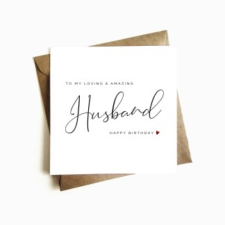 'Loving and Amazing Husband' Birthday Card
