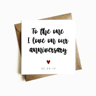To the one I love on our Anniversary Card