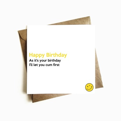 Rude Birthday Card