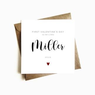 'First Valentine's as Mr & Mrs' Card