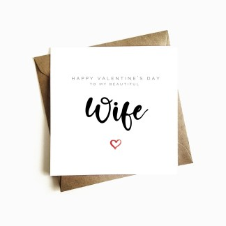 'Beautiful Wife' Valentine's Day Card