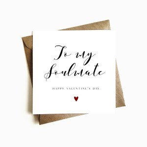 'Soulmate' Valentine's Day Card
