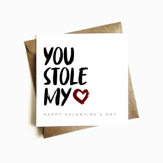 'You Stole my Heart' Valentine's Day Card