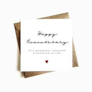 'Daughter & Daughter-in-law' Anniversary Card