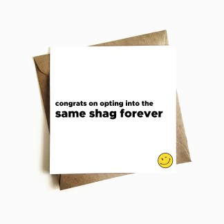 Rude Engagement Card