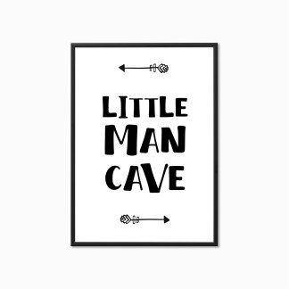 Little Man Cave Nursery Print
