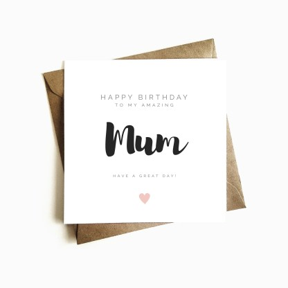 Happy Birthday Card - Mum