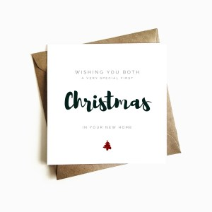 'First Christmas in your New Home' Card
