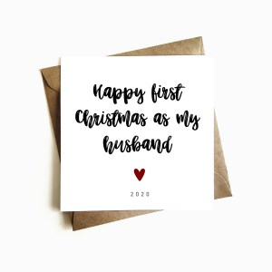 'First Christmas as my Husband' Card