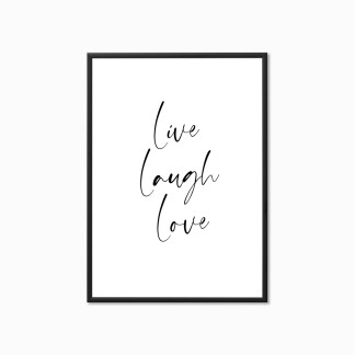'Live Laugh Love' Living Room Print