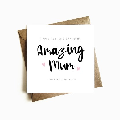 'Amazing Mum' Mother's Day Card