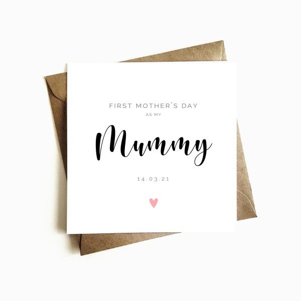 'First Mother's Day as my Mummy' Mother's Day Card