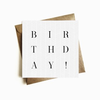 Deco Birthday Card - Steel Blue