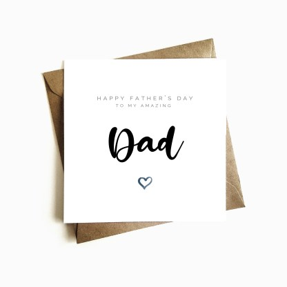 'Amazing Dad' Father's Day Card
