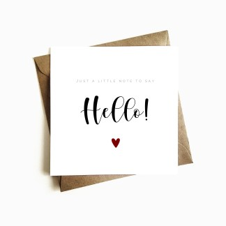'Just a Little Note To Say Hello' Card