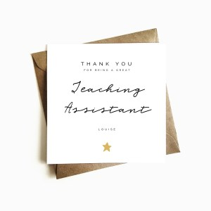 Personalised Thank You Teaching Assistant Card