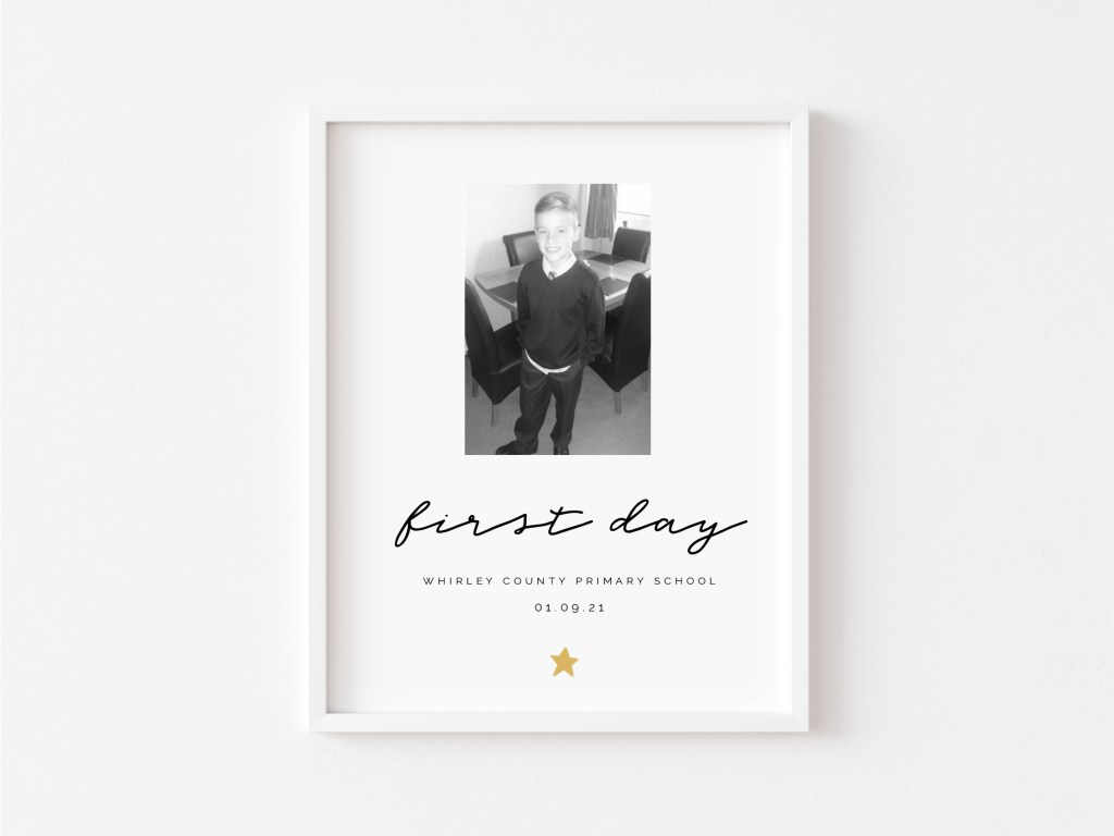 Personalised 'First Day' Print
