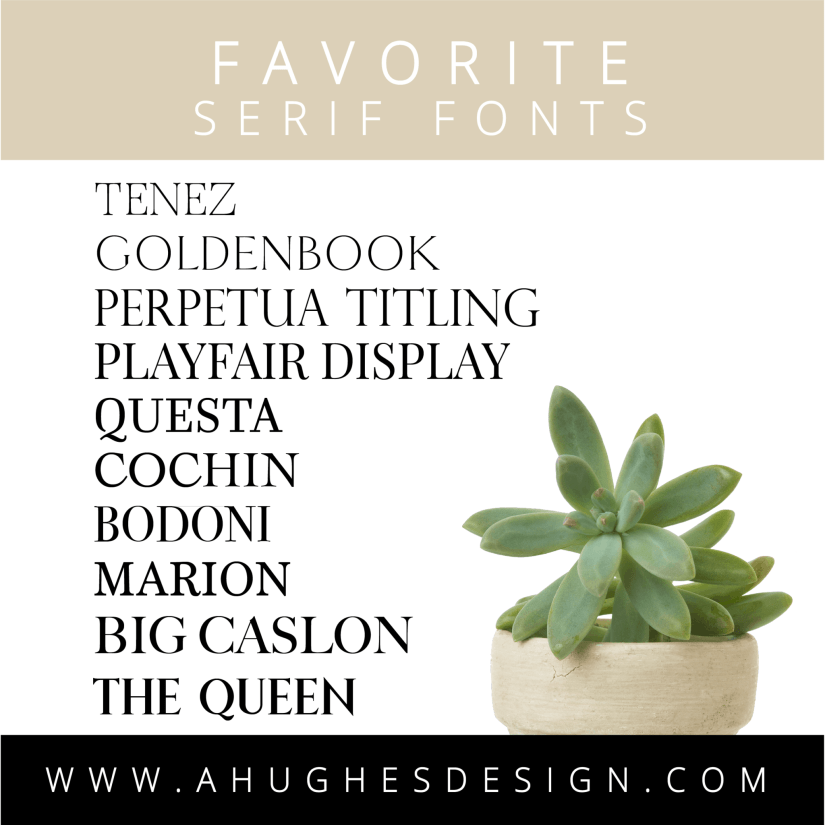 Favorite Serif Fonts