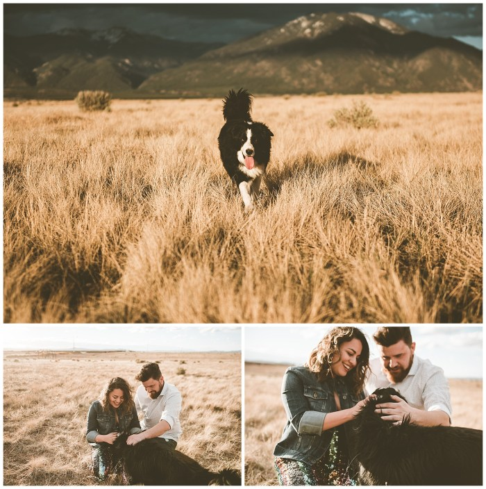 Engagement shoot at Hotel Luna Mystica in Taos New Mexico
