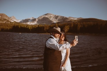 Mountain Elopement at Brainard Lake in Boulder Ranger District, Indian Peaks Wilderness, Boulder, Colorado | Brainard Lake Elopement | Brainard Lake mountain elopement | Photos by Ashley Joyce Photography 2020