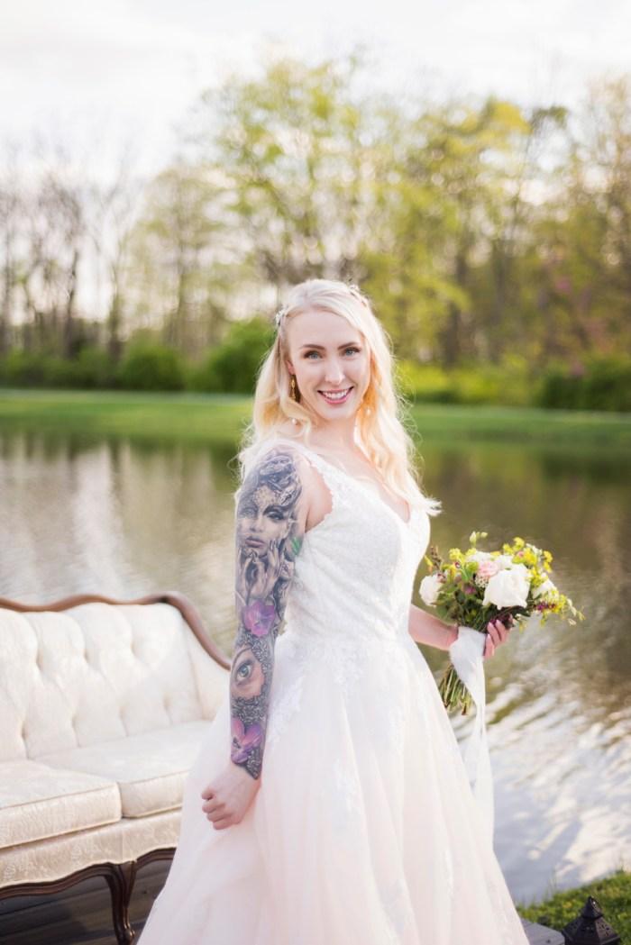Dayton wedding photographer- tattoo bride