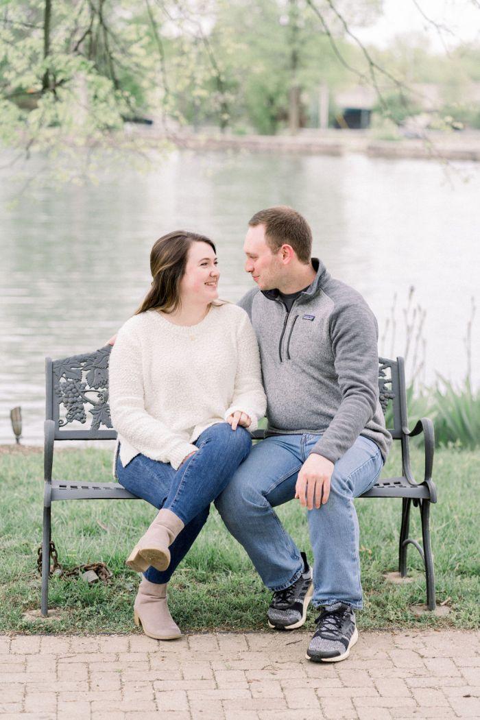 VA Grotto Gardens Dayton, Ohio Engagement Photography
