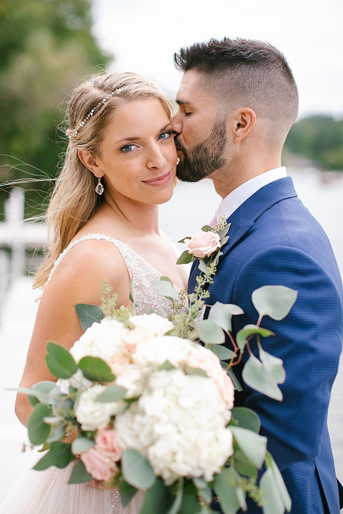 romantic lakeside wedding portraits by Ashley Mac Photographs