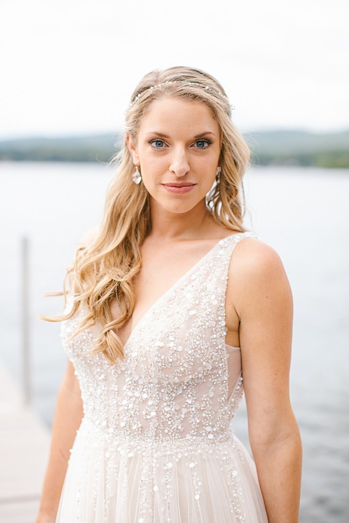 bridal portraits at the Lake House in Lanesboro MA with Ashley Mac Photographs
