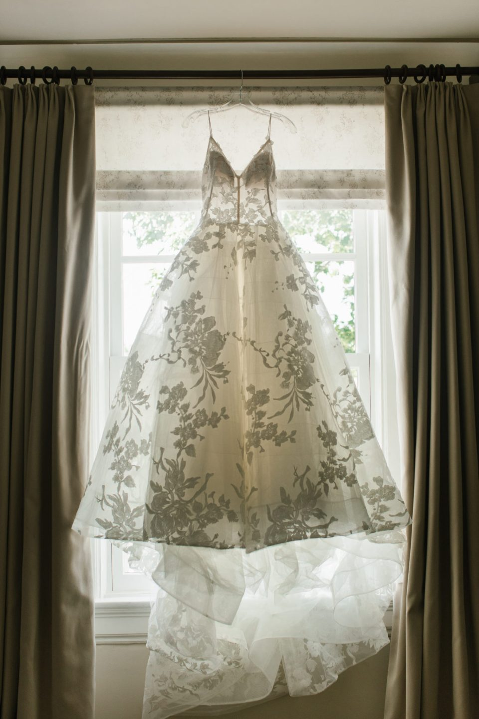 gorgeous lace wedding gown photographed by Ashley Mac Photographs