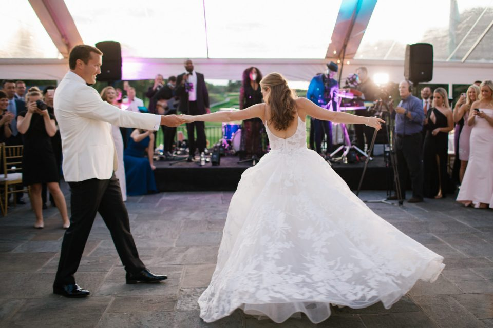 Ashley Mac Photographs photographs first dance at wedding reception