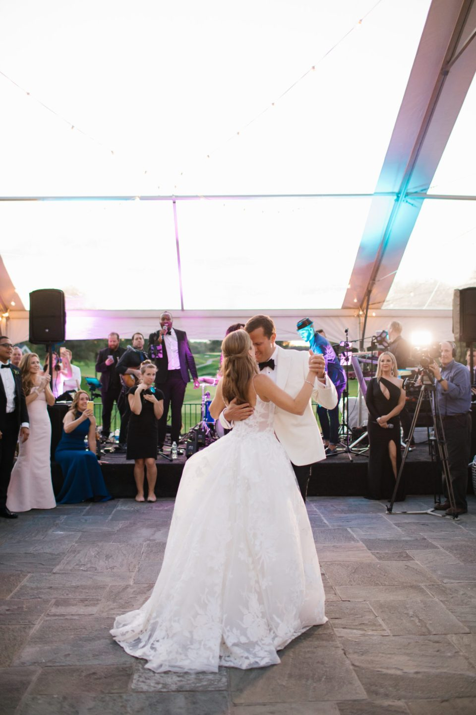 first dance with bride and groom photographed by Ashley Mac Photographs