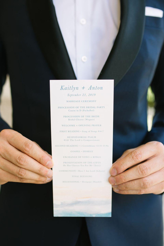 wedding ceremony program photographed by Ashley Mac Photographs