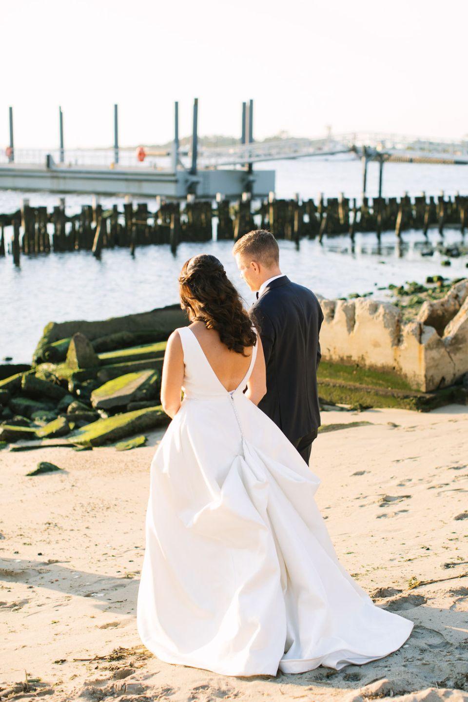 Sandy Hook Chapel beach wedding photos by Ashley Mac Photographs