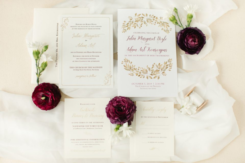 ivory and cream wedding invitations by Love Notes Paperie