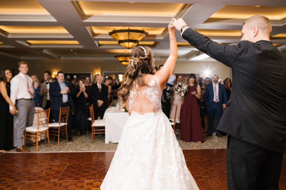 first dance at Navesink Country Club with Ashley Mac Photographs