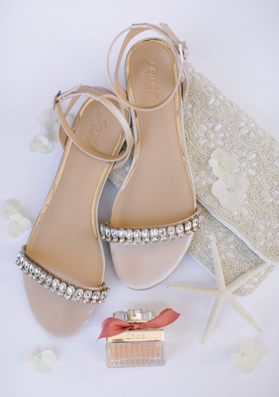 shoes for the bride with New Jersey wedding photographer Ashley Mac Photographs