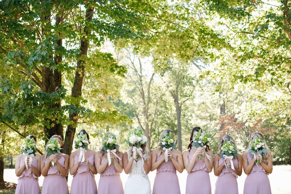 fun bridesmaid portraits by Ashley Mac Photographs for NJ wedding day