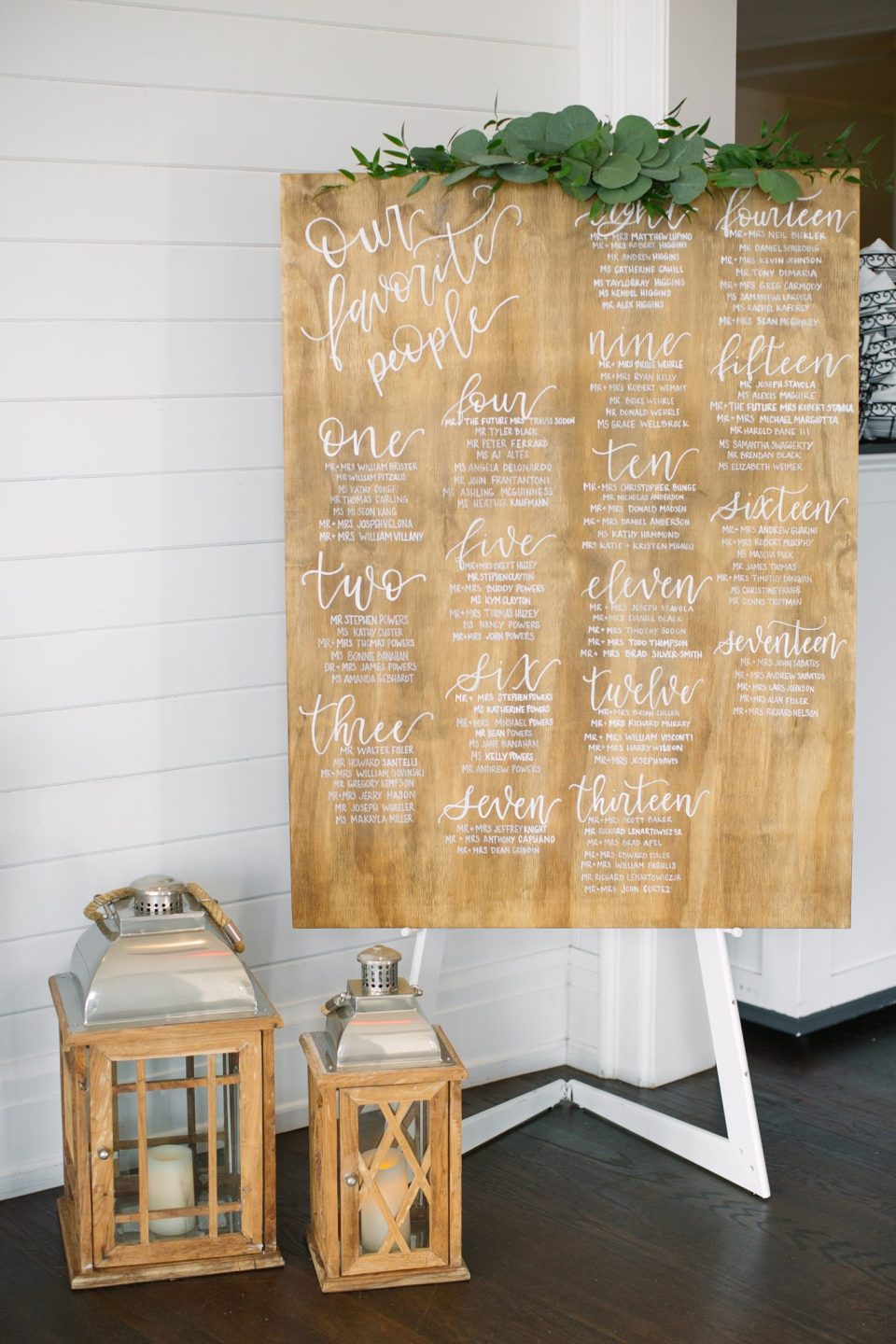calligraphed wooden sign at Rumson Country Club Riverhouse with Ashley Mac Photographs