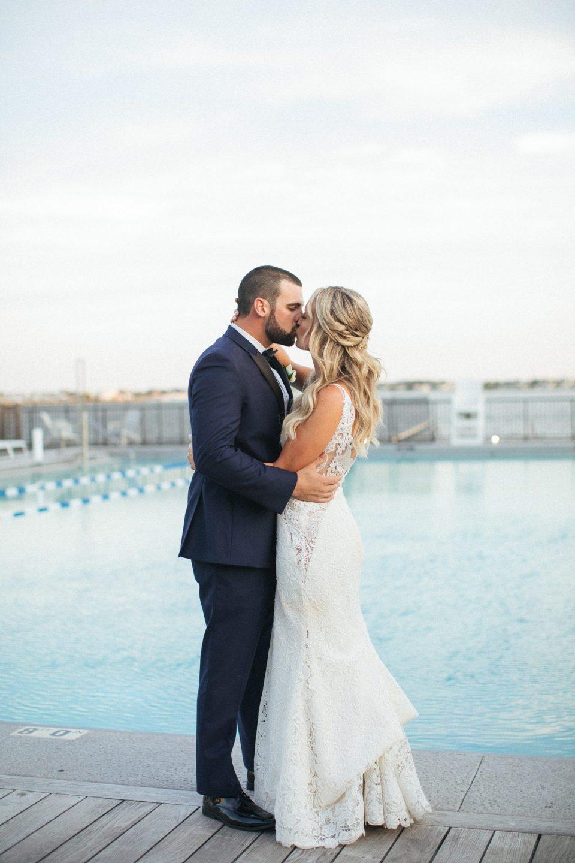 beach wedding portraits by NJ wedding photographer Ashley Mac Photographs