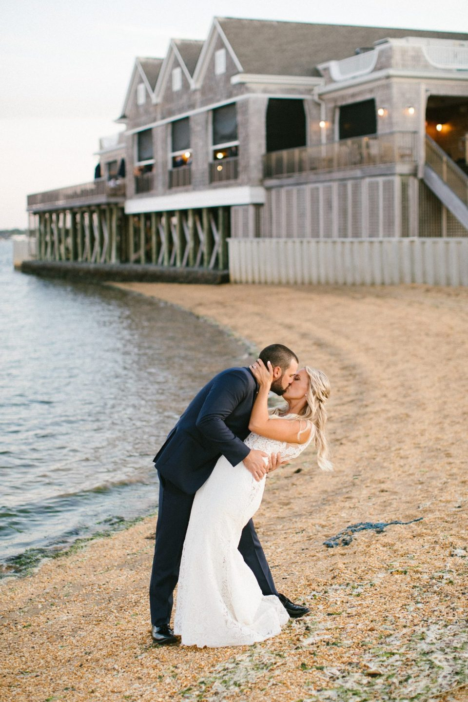 beach wedding portraits in New Jersey with Ashley Mac Photographs