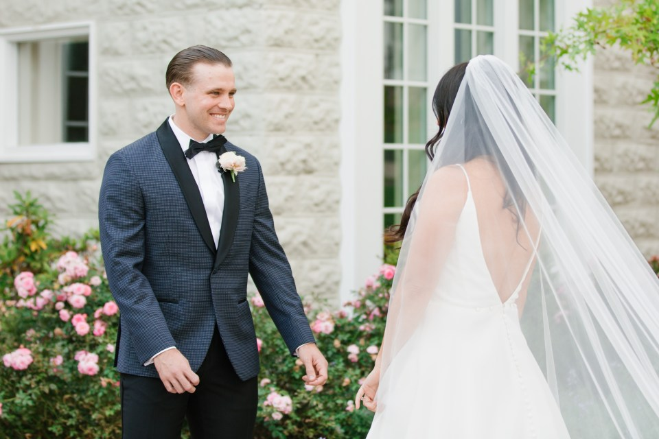 first look for New Jersey bride and groom photographed by Ashley Mac Photographs