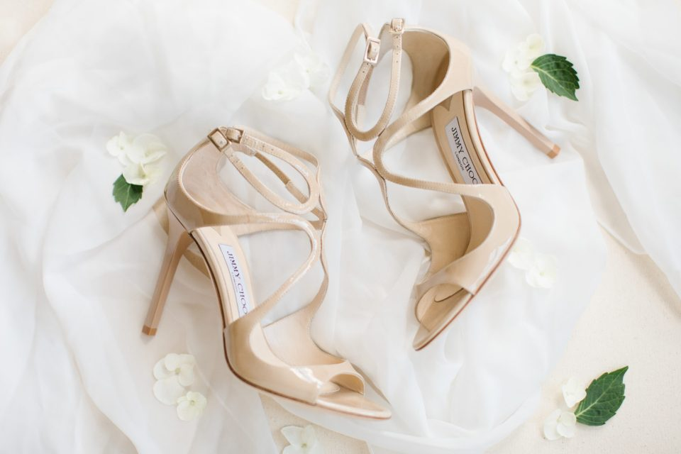 bride's shoes for New Jersey wedding day photographed by Ashley Mac Photographs