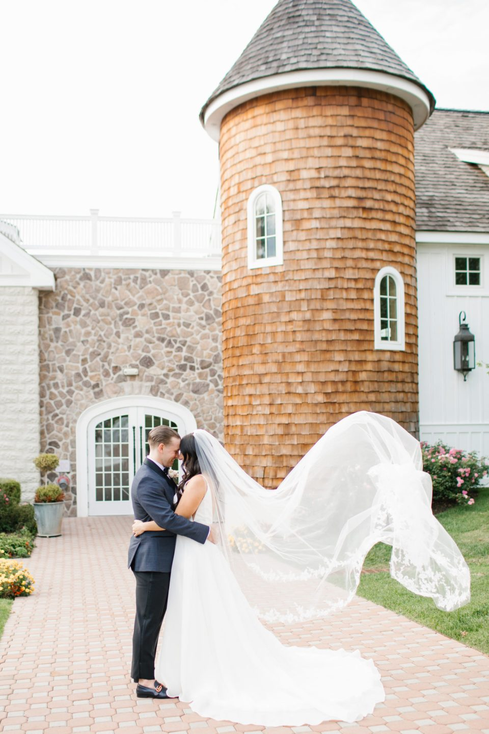 romantic wedding portraits in New Jersey with Ashley Mac Photographs