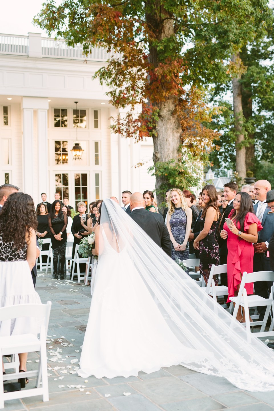 wedding ceremony at Ryland Inn with Ashley Mac Photographs