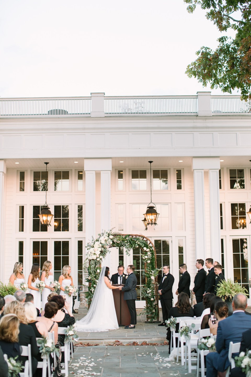 sunset Ryland Inn wedding day with Ashley Mac Photographs