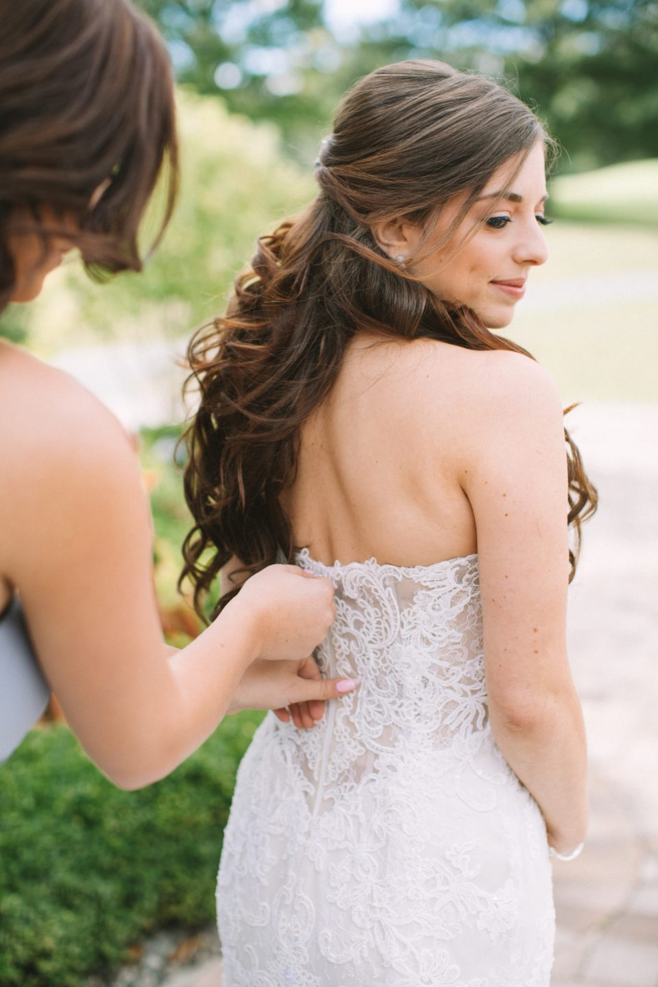wedding dress prep photographed by Ashley Mac Photographs