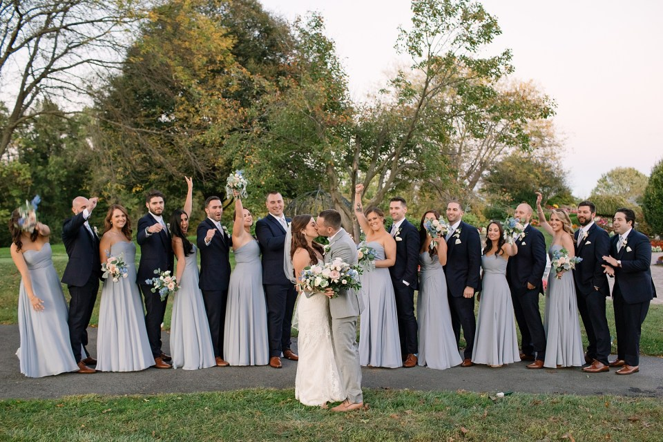 navy blue and dusty blue wedding party inspiration photographed by Ashley Mac Photographs