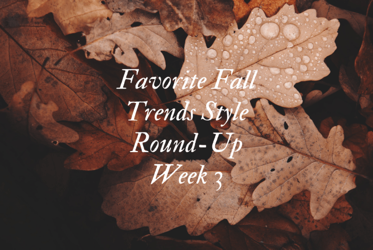 Favorite Fall Trends Style Round-Up | Week 3
